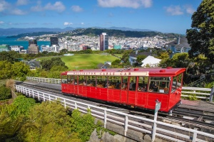 Cable Car Bahn in Wellington, Neuseeland